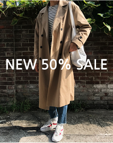 COTTON DOUBLE LONG TRENCH COAT 당일출고!!